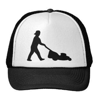 lawn mower icon trucker hat