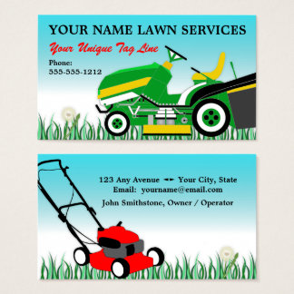 Lawn Mower | Landscaping | Groundskeeping Service Business Card