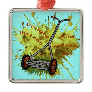 Lawn Mower Metal Ornament