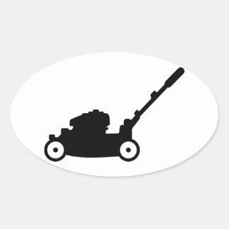 Lawn mower oval sticker