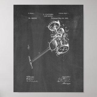 Lawn Mower Patent - Chalkboard Poster