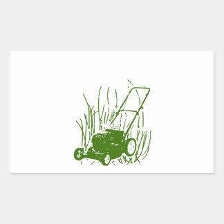 Lawn Mower Rectangular Sticker