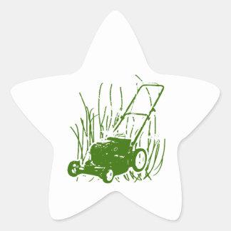 Lawn Mower Star Sticker
