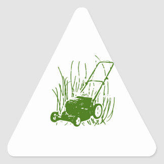 Lawn Mower Triangle Sticker