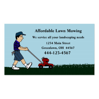 Lawn Mowing and Landscaping Business Card