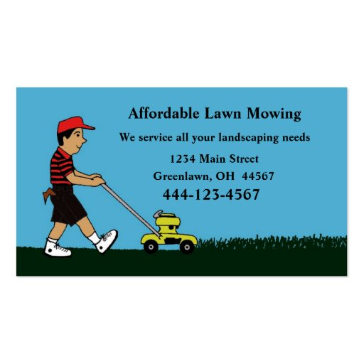 Lawn Mowing And Landscaping Business Card Zazzle