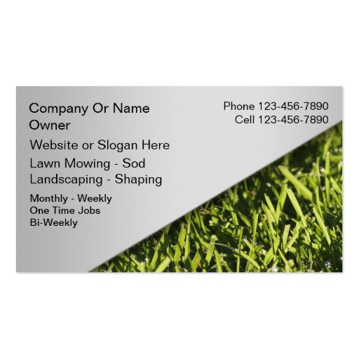 lawn mowing business cards