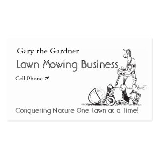 Lawn Mowing Business Double-Sided Standard Business Cards (Pack Of 100)