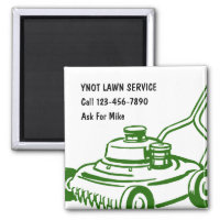 Lawn Mowing Business Magnets