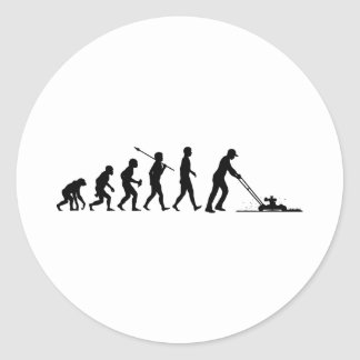 Lawn Mowing Classic Round Sticker