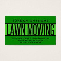 Lawn mowing business cards templates zazzle colourmoves