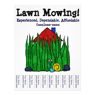 Lawn Mowing! Lawn Care. Yard Word. Custom Flyer