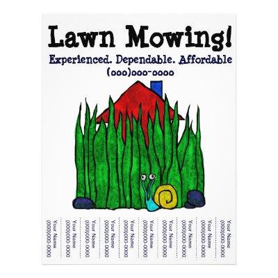 lawn maintenance flyers
