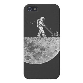 Lawn mowing on the Moon Case For iPhone SE/5/5s