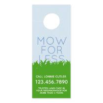 Lawn Mowing Services Door Hanger Business Card