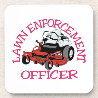 Lawn Officer Coaster