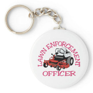 Lawn Officer Keychain