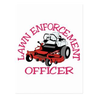 Lawn Officer Postcard