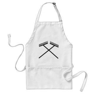 lawn rake crossed adult apron