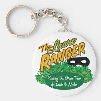 Lawn Ranger Basic Round Button Keychain