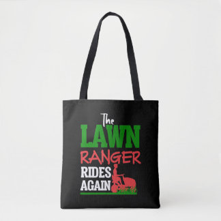 Lawn Ranger Grass Tractor Mowing Caretaker Tote Bag