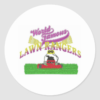 Lawn Rangers logo items Classic Round Sticker