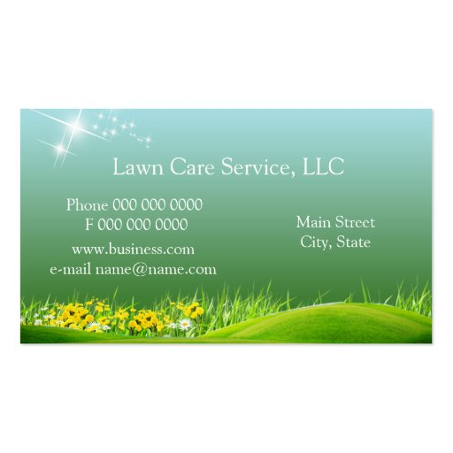 lawn service business2 business card