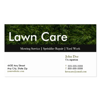 Lawn Service Business Card Appointment Card