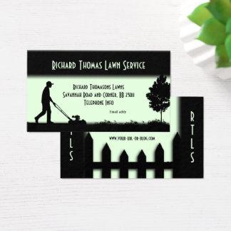 Lawn Service Landscape Light Green Business Card