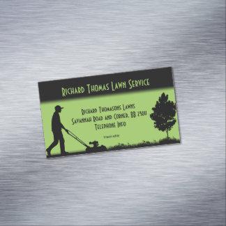 Lawn Service Landscape Magnetic Business Business Card Magnet