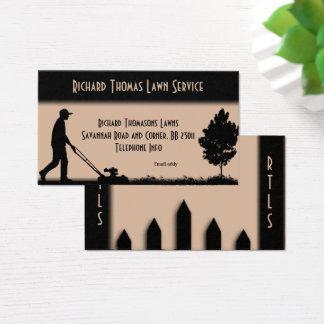Lawn Service Landscape  Tan Business Card