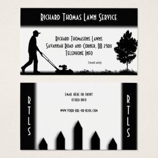 Lawn Service Landscape  White Business Card