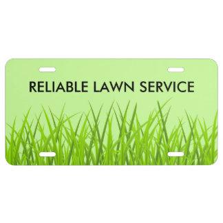 Lawn Service License Plate