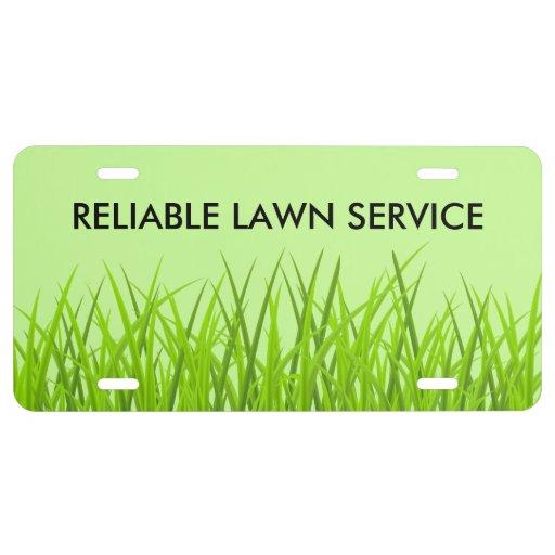 Lawn Service License Plate - Zazzle