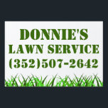 "Lawn Service Yard Sign<br><div class=""desc"">Donnie&#39;s lawn service</div>"