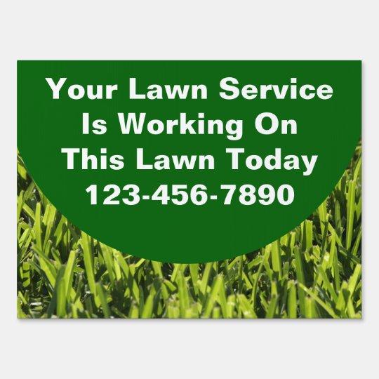 Lawn Service Yard Signs