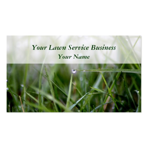500 Lawn Mower Business Cards and Lawn Mower Business