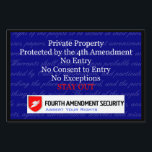 "LAWn Sign Yard Sign3<br><div class=""desc"">This is Sign3 in the yard sign collection of LAWn Signs from Fourth Amendment Security (FourthAmendmentSecurity.com). The graphics are sized to fit the small and large sign options. Legal Disclaimer: These products are for informational purposes only and not for the purpose of providing legal advice. You should contact your attorney...</div>"