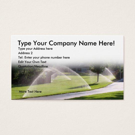 Lawn Sprinker Business Card