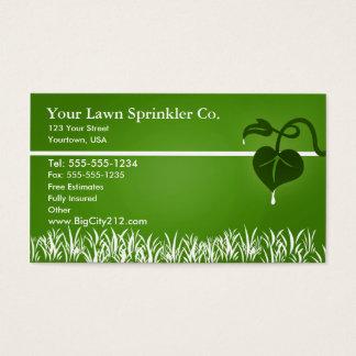 Lawn Sprinkler editable business card
