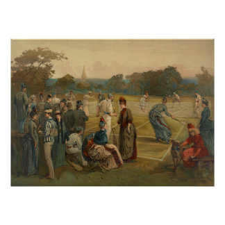 Lawn Tennis 1887 Posters