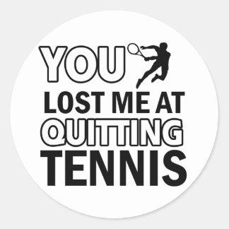 Lawn tennis designs round sticker