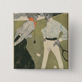 Lawn Tennis Pinback Button