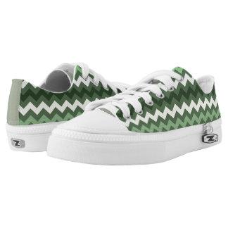 Lawn Tennis Zig Zag Chevron Design Sneakers Printed Shoes