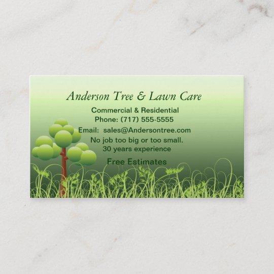 lawn  u0026 tree service business card