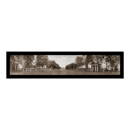 Lawn University of Virginia Huge Photo 1911 Poster