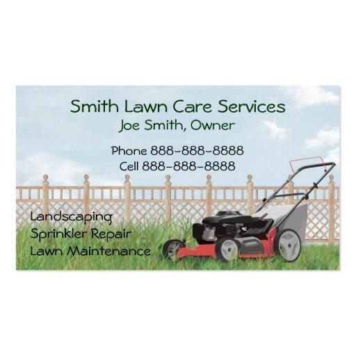 Lawn Yard Maintenance Servies Business Card