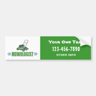 Lawn Yard Mowing, Mow Lawns, Landscaping Lawn Care Bumper Sticker