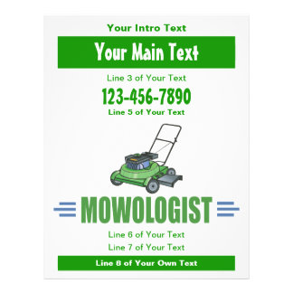 Lawn Yard Mowing, Mow Lawns, Landscaping Lawn Care Flyer
