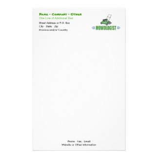 Lawn Yard Mowing, Mow Lawns, Landscaping Lawn Care Stationery